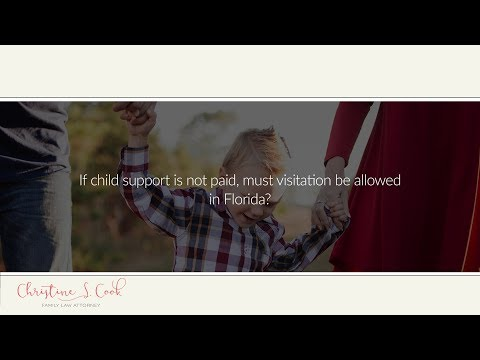 If child support is not paid, must visitation be allowed in Florida?