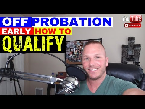 FEDERAL PROBATION- Can you get off early?
