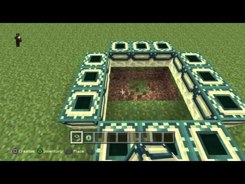 Minecraft PS4 How To: Build the End Portal Frame