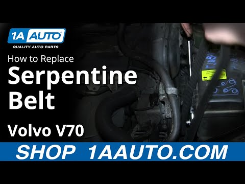 How To Install Replace Engine Serpentine Belt Volvo V70 Wagon