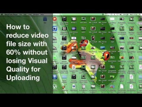 MAC OS X - HOW TO REDUCE iMOVIE video file size with 60% for uploading NO QUALITY LOSS 2016