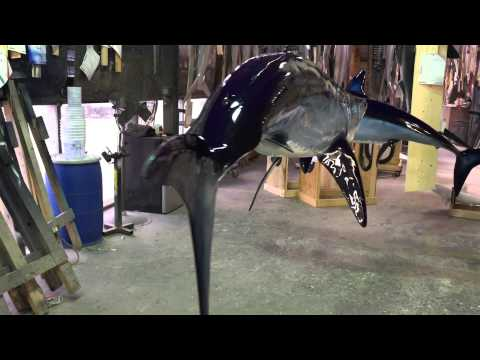 360 view Mako Shark replica - Gray Taxidermy Fishmounts, Fish replicas