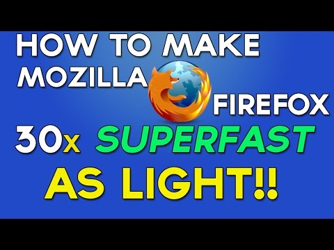 How To Make Mozilla Firefox Run Faster than EVER (JUNE 2015)