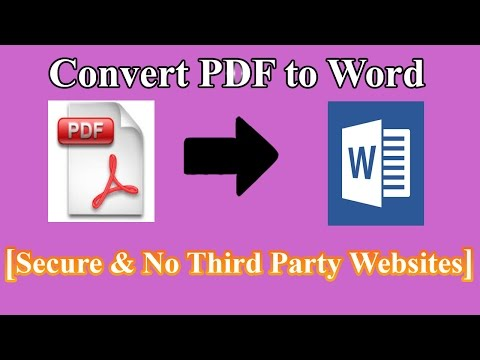 How to Convert PDF to Word  [Safe & No Third Party Websites]
