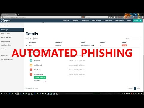 Automate Phishing Emails with GoPhish
