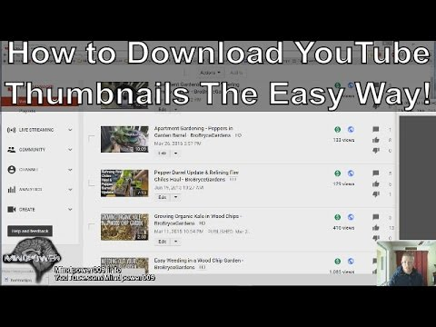How to Download YouTube Thumbnails THE EASY WAY 2016 - MindPower009