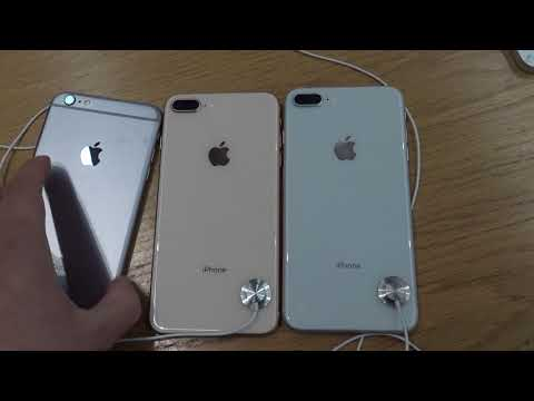 iPhone 8 all colors and 6 comparison