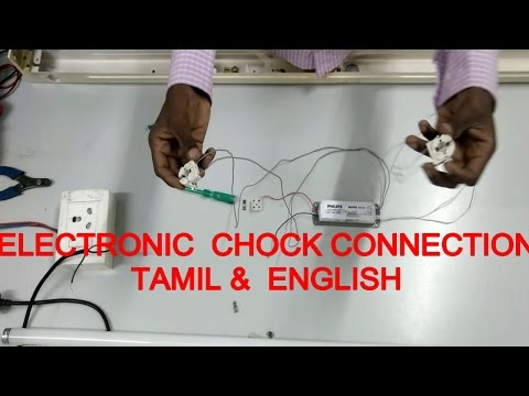 tube light connection ,how to make tubelight connection Electronic chock - in tamil & english