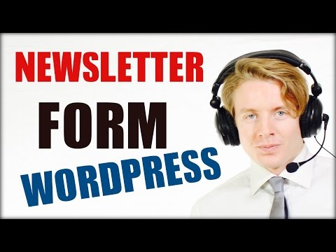 Newsletter plugin WordPress using Mailchimp - Captainform Tutorial 2016
