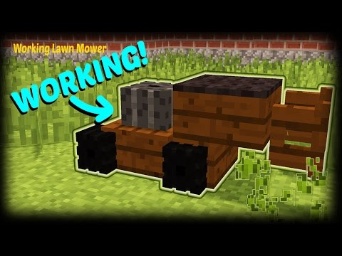 Minecraft - How To Make A Working Lawn Mower