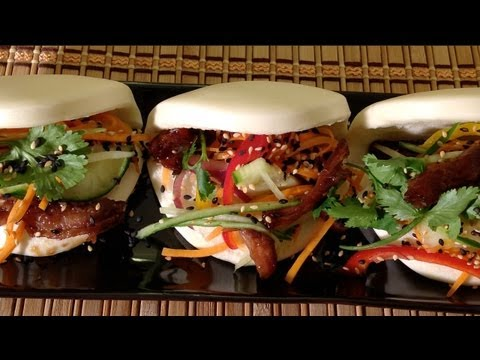 Steamed Pork Buns With Slow Cooked Pulled Pork-How To Make Vietnamese Tacos-Vietnamese Banh Bao