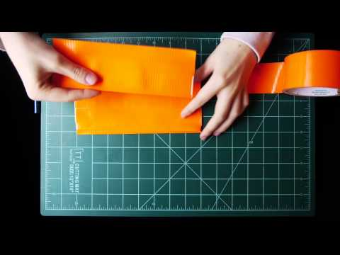 How to Make a Duct Tape Wallet in 10.5 Strips of Tape!
