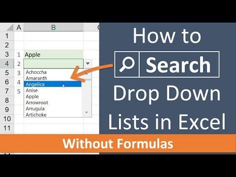 How to Search Data Validation Lists in Excel with the List Search Add in