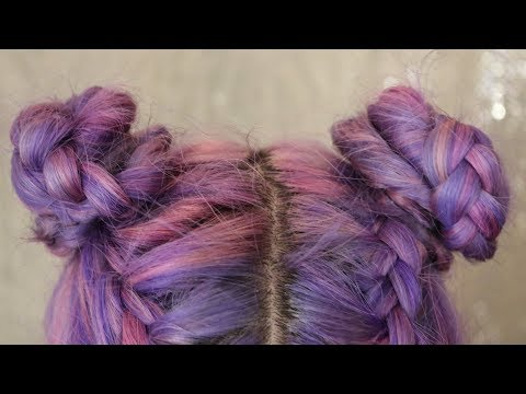 Perfect Double Braided Space Buns | Hair Tutorial ♡