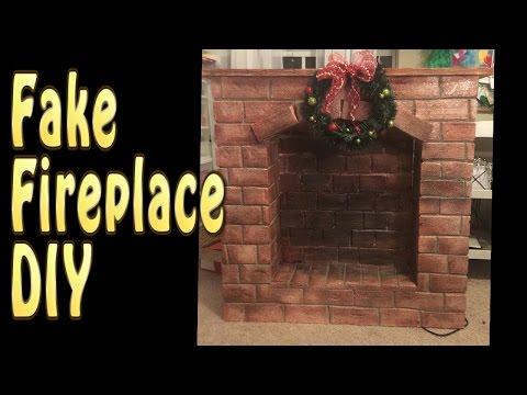 Craft DIY : Fake Fireplace Tutorial / Cup N Cakes Gourmet