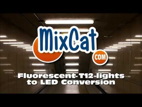 Florescent 40W T12 to efficient LED light conversion DIY