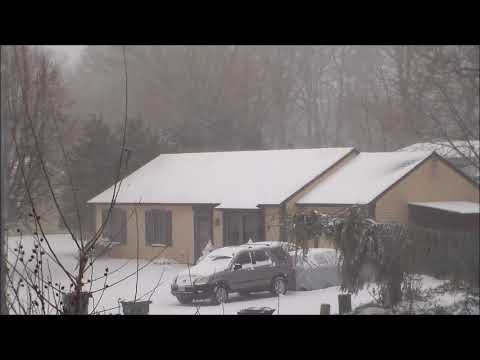 Snow Fall Blizzard windy 1080p HD Relaxing 1hr