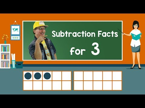 Practice Our Subtraction Facts for 3 | Subtraction Song | Math Song for Kids | Jack Hartmann