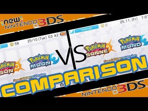 COMPARISON | POKEMON SUN & MOON | (OLD) 3DS VS (NEW) 3DS