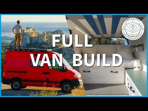 How to build a Camper Van / Studio - DIY conversion  (Step by step)