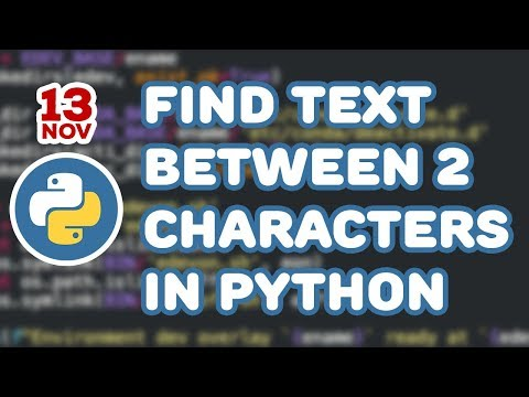 Find text between two characters in Python
