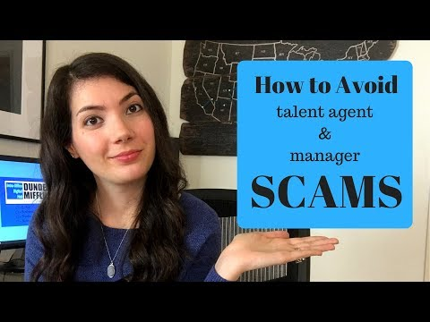 How to Avoid Acting or Modeling Agent and Manager Scams