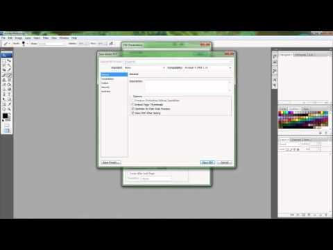 PDF FORMATTING IN PHOTOSHOP CS3