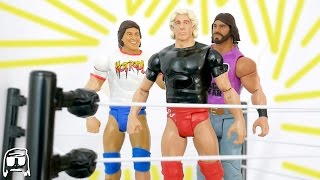 WWE Tough Talkers Target Exclusive Ric Flair, Macho Man & Roddy Piper Toy Set Unboxing & Review!!