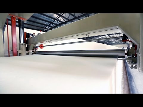 How to make Latex + Meory foam Mattress: Ecosa production video