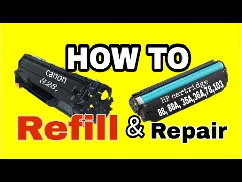 How to Toner cartridge refill 35A, 36A, 88, 88A,328/Hp,canon printer toner ko kaise refilling kare