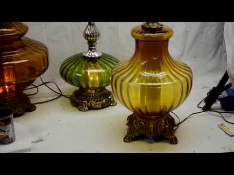 How to Repair A Glass Globe Lamp Base with JB Weld Kwik Epoxy