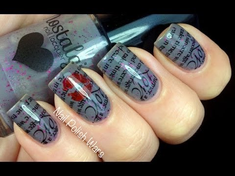 Love Letter! : Konad Stamping *time Lapse Video*