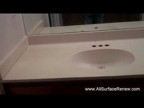 How Can I Renew A Cultured Marble Vanity??  We show you