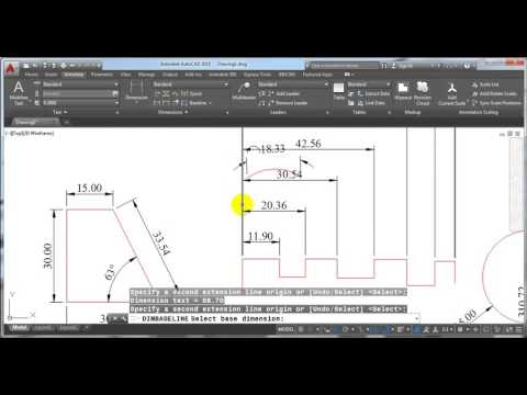 Tutorial 21 How to use and modify Dimensions in AutoCAD Hindi