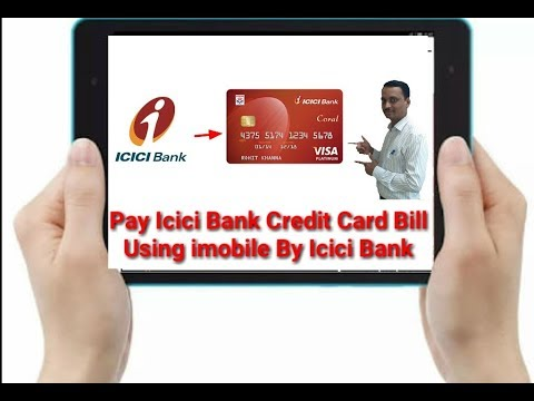 Pay Icici Bank Credit Card Bill Using imobile By Icici Bank # Icici Bank kr Credit Card Ka Bill ||