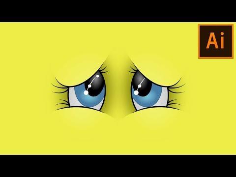 Create Vector Cartoon Eyes (Wallpaper) in Adobe Illustrator