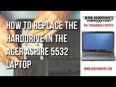 How to replace the Hard Drive in the Acer Aspire 5532 Laptop