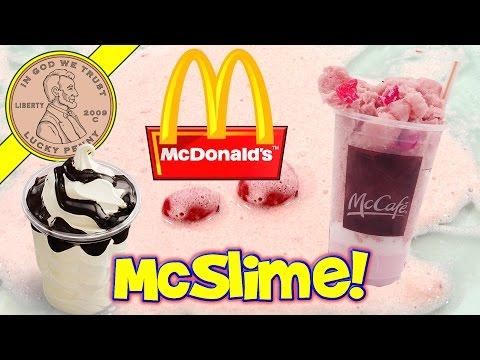 Make McDonald's Milkshake Slime - Will It Slime?  McDonald's Milk Shake & Sundae!