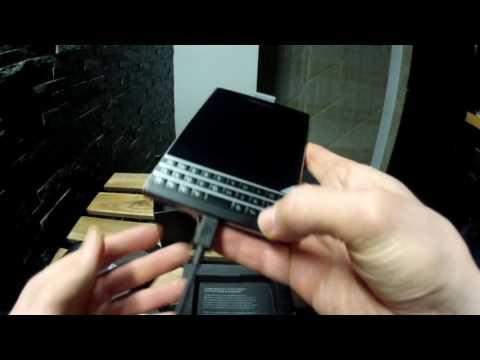 Blackberry Passport set-up 2017