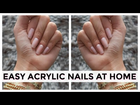 BOUGIE ON A BUDGET - ACRYLIC NAILS AT HOME | DIY