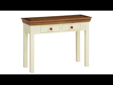 Constance Painted 2 Drawer Console Table - PineSolutions