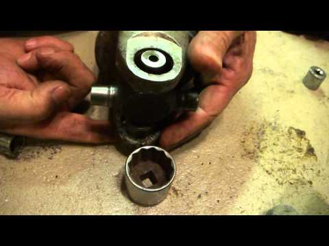 How To Take Out A Stuck U Joint In A 1994 Chevy Truck With A Vise Press Hammer and Torch + Sandpaper