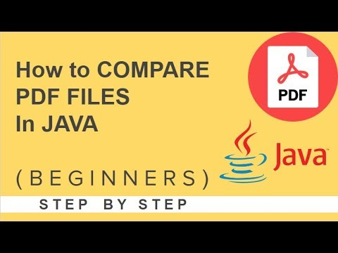 How to Compare PDF files in java
