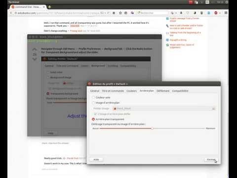 Tuto Terminal Transparent Ubuntu 14.04 Lts