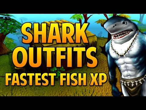 Runescape - Shark Outfits: FASTEST Fishing XP Ever! 150K XP/Hr?!