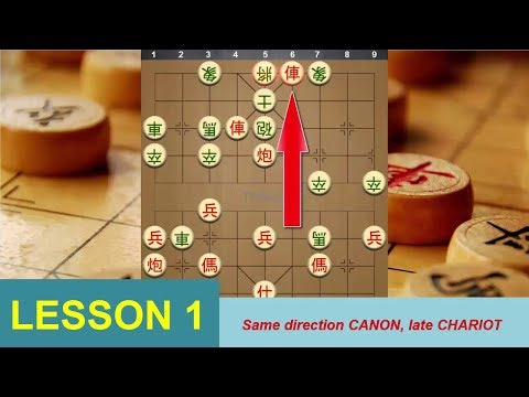 Chinese Chess Strategy for Beginner - LESSON 1: Same direction CANON, late CHARIOT