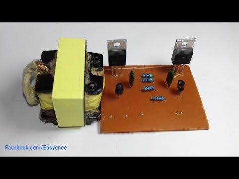How to make PCB   inverter 12V to 220V at home