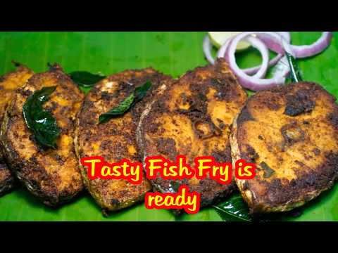 king fish fry | spicy fish fry | fish fry recipe south indian