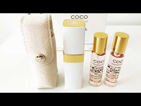 UNBOXING CHANEL COCO MADEMOISELLE PARFUM PURSE SPRAY 7.5ml (WHITE AND GOLD)