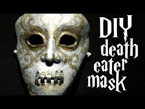 DIY Bellatrix death eater mask - Harry Potter tutorial + CONTEST WINNERS
